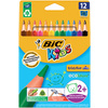 BIC KIDS Crayons de couleur triangulaires Evolution Triangle