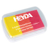 HEYDA Tampons encreurs '3-Color', jaune / orange / rouge